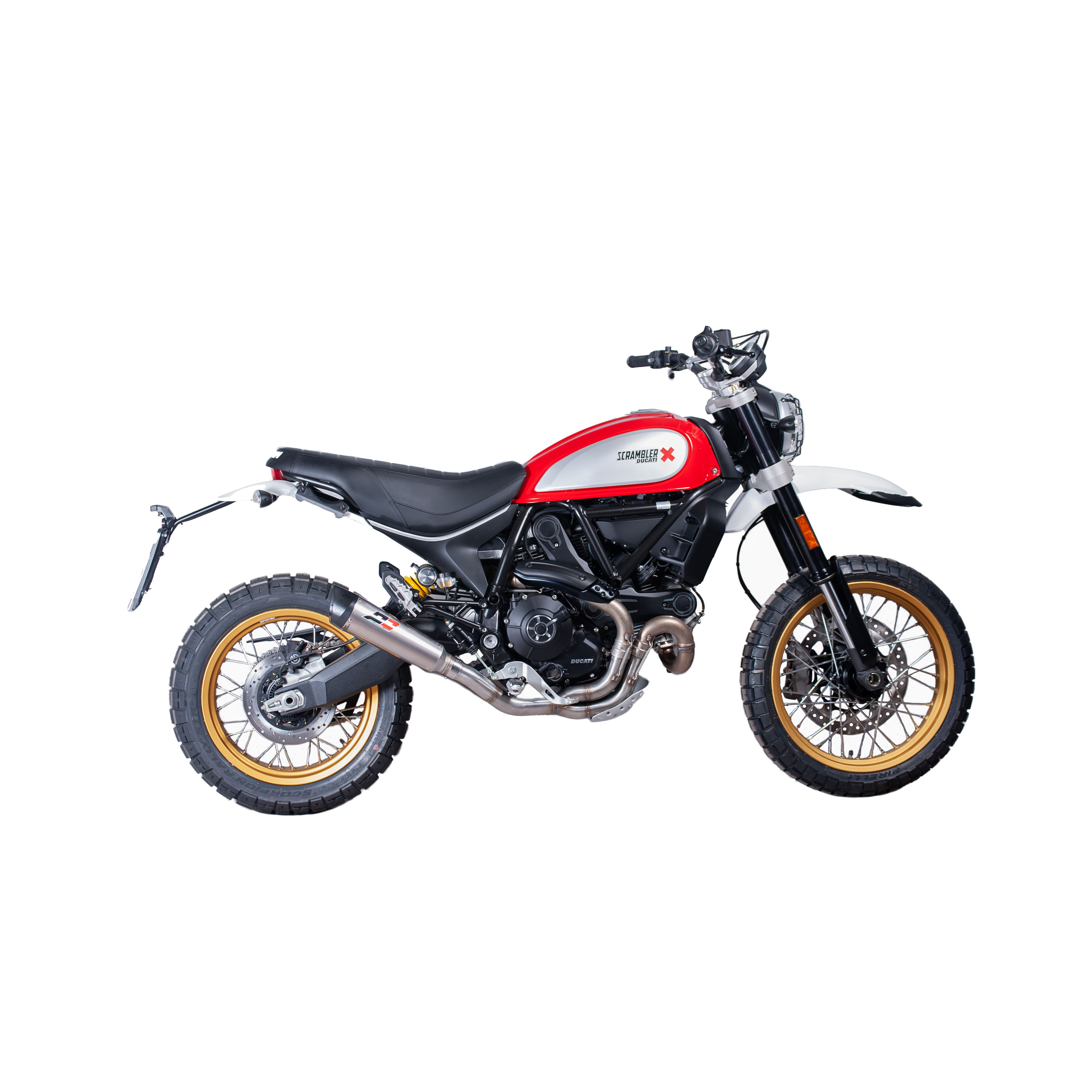 parts ducati scrambler exhaust qd ducati scrambler 800 desert sled titanium tri cone. Black Bedroom Furniture Sets. Home Design Ideas